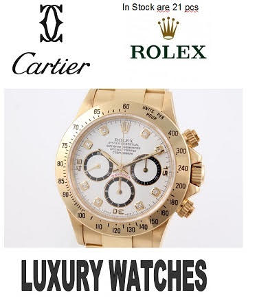 21 x LUXURY WATCHES LIKE ROLEX - CARTIER