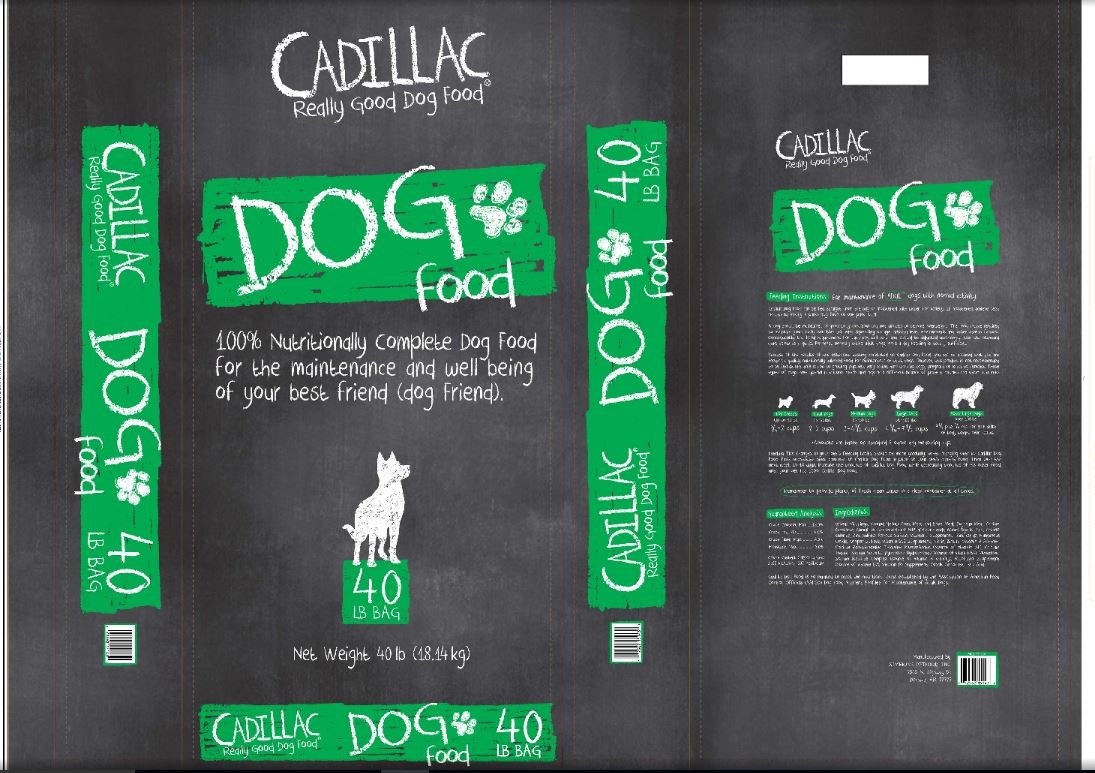 Cadillac Line of Dry Dog Food (NEW)