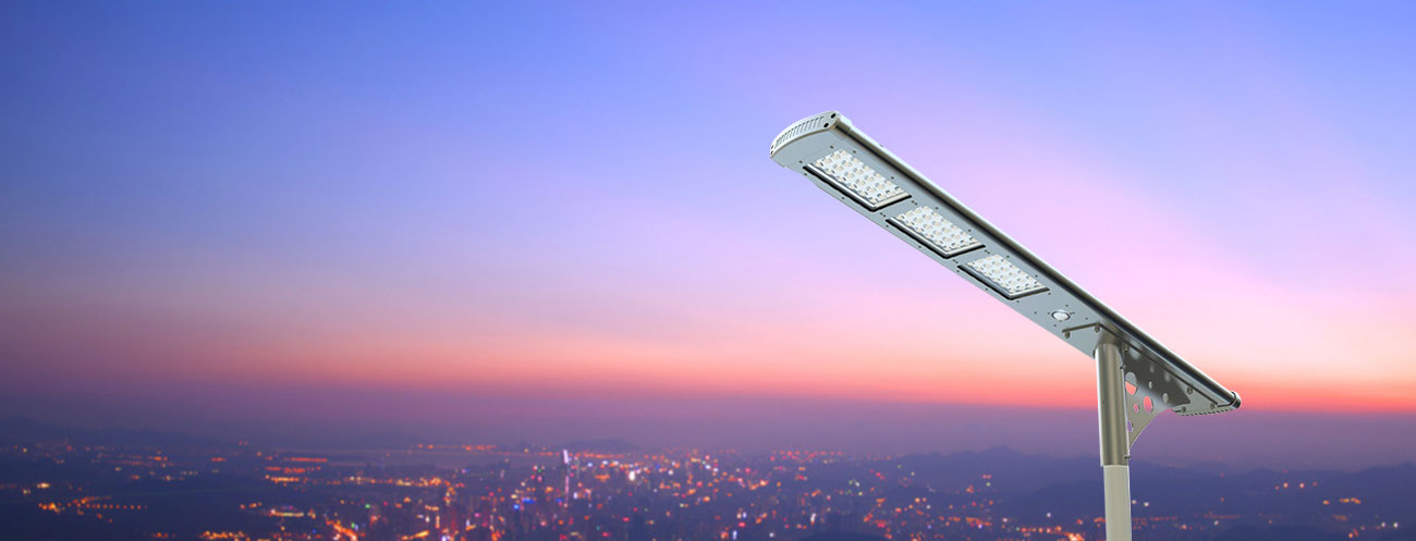New integrated solar street light for pathway and parking lot lighting