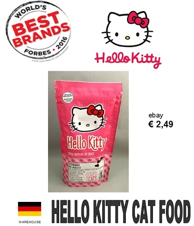 60.000 packs HELLO KITTY CAT FOOD