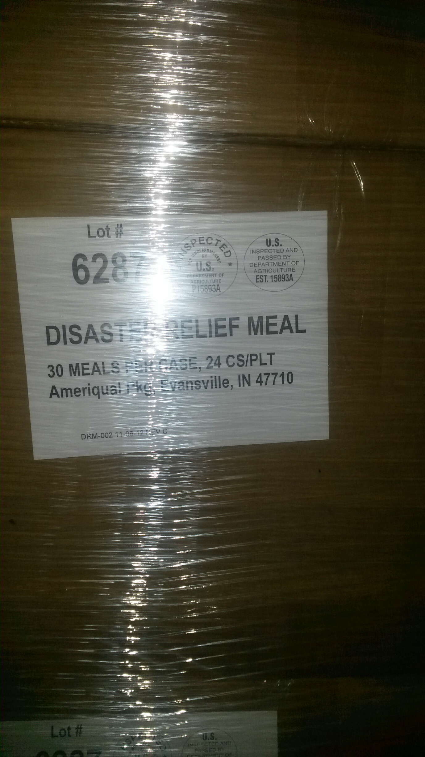 disaster relief meals