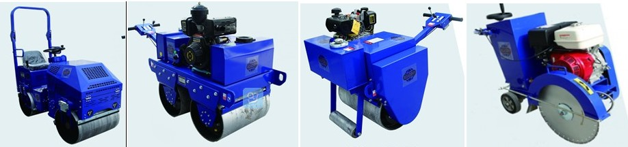Tamping Rammer, Road cutter machine, Road grooving machine, Road roller machine
