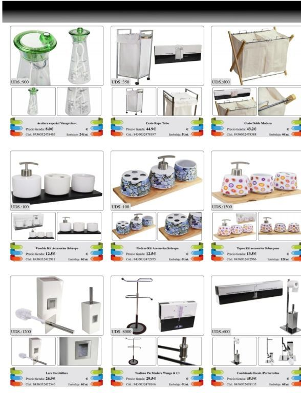 3815 Stock of bathroom items. All products of leroy merlin europe dec 1 18