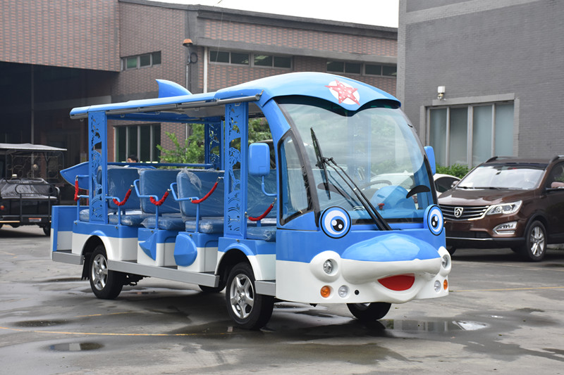 14 seats electric shuttle bus with dophin shape
