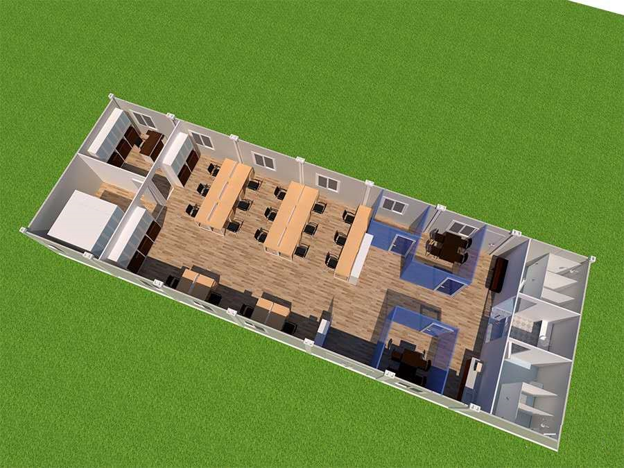 Living in a Container House--modular house for living, office