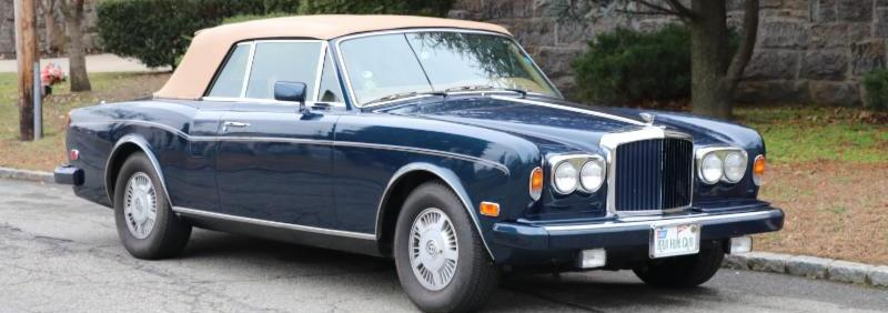 Beautiful and Rare 1987 Bentley Continental Convertible: One Owner Car with 54k Miles