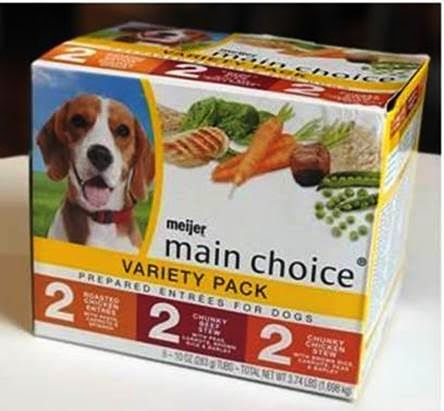 Meijer Main Choice Wet Dog Food (Variety Pack & Individual Flavors)