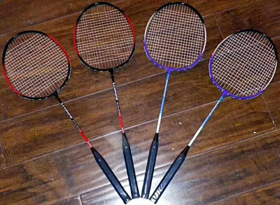 STOCKLOT OF 'DELUXE BADMINTON RACQUET'