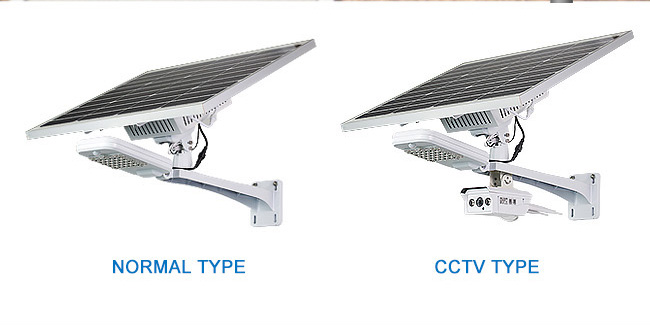 High quality solar security light with romote control and CCTV Camera for your garden