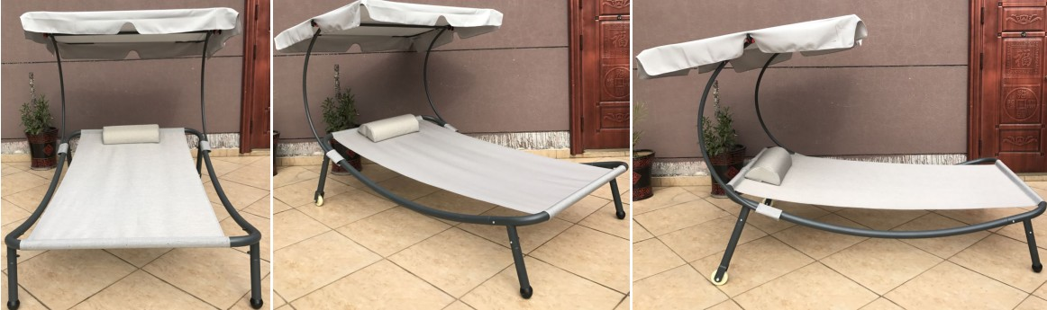 Single Double sunlounger HW80701AB