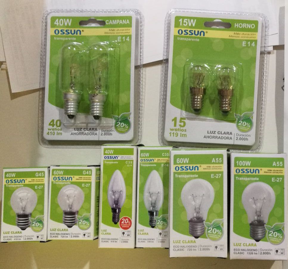 STOCK DE BOMBILLAS DE BAJO CONSUMO - STOCK BULBS, LOW ENERGY CONSUMPTION.