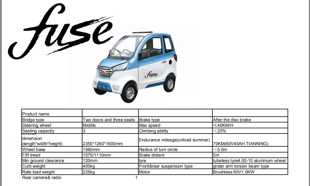 A low cost car for city driving looking for exclusive distributors