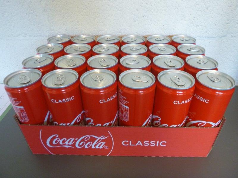 COCA COLA CAN 33 CL SLEEK German tex PAY SCROW