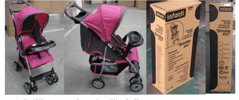 3 Containers of Brand New Baby Strollers