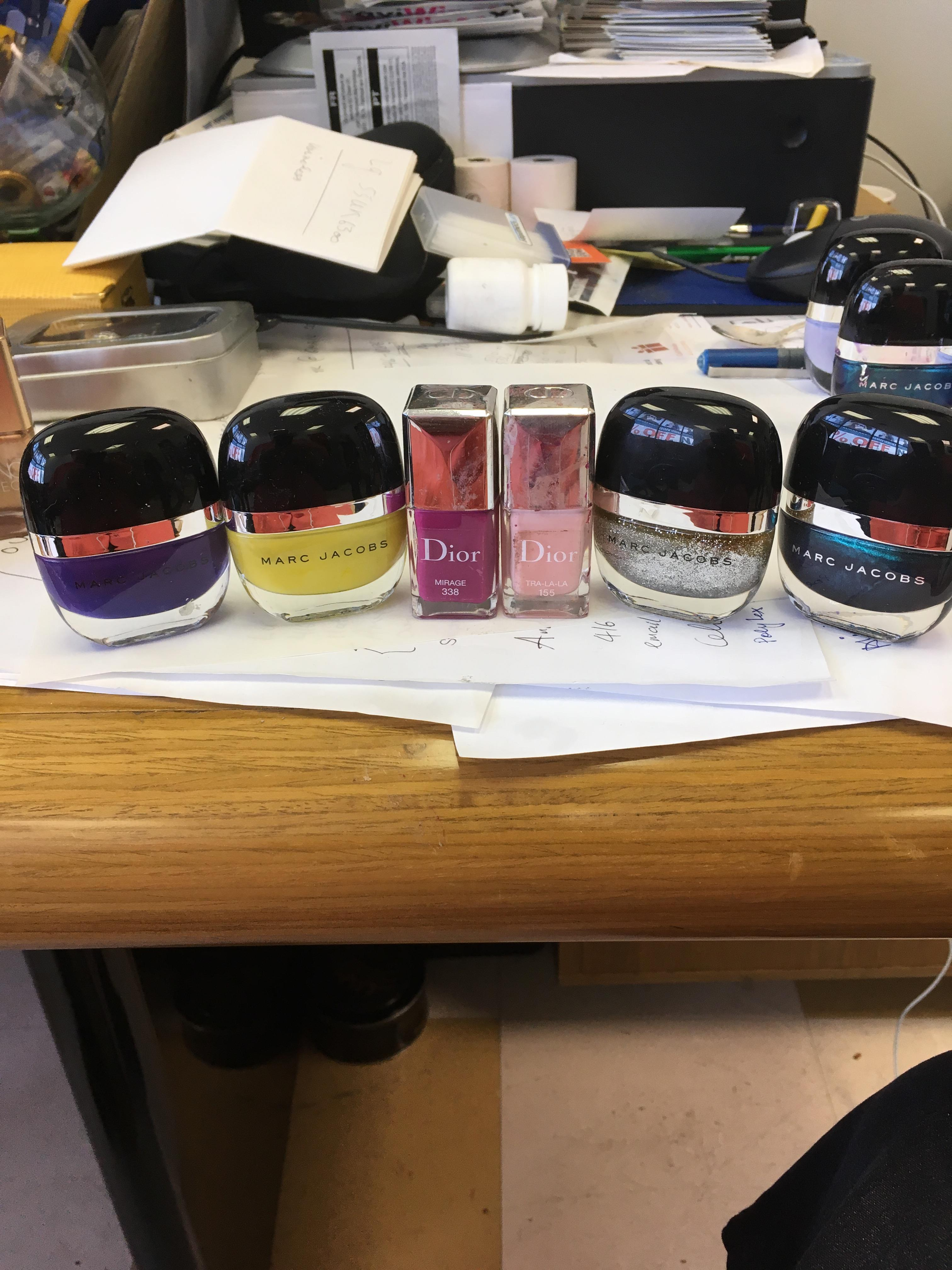 600000 HIGH-END CLEAR-OUT NAIL POLISH- CD/MARK JACOBS ETC