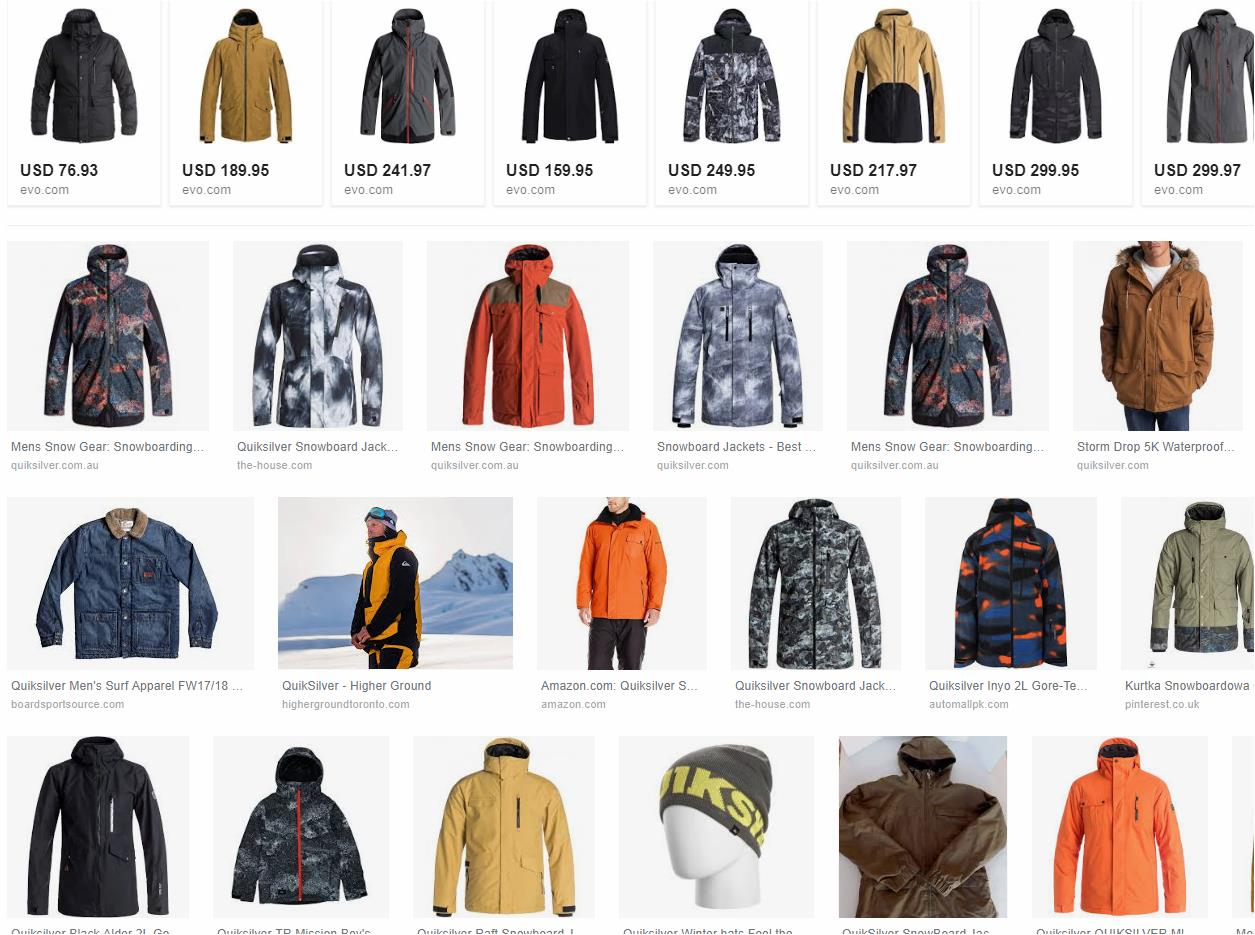 QUIKSILVER - DC - ROXY WINTER APPAREL // ROPA DE INVIERNO DE GRANDES MARCAS. usa oct 19 18