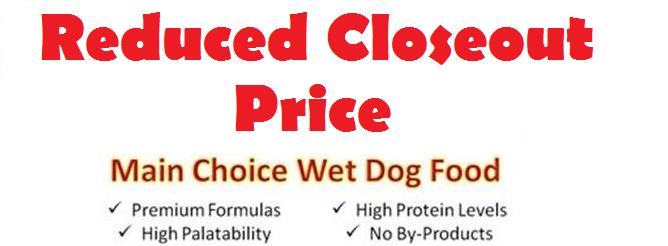 Main Choice Wet Dogfood (10 oz Tubs)---FOB NEW JERSEY