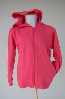 Girls hooded full zip sweater