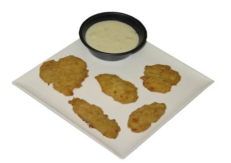 Offer RTC chicken fritter/tenders $.50/lb delivered in USA  Made from 100% high quality breast meat, finger lickin good, oven bake or fry –
