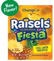 LINE ITEM REMINDER - IW Flavored Golden Raisins 1.35-1.66 oz.