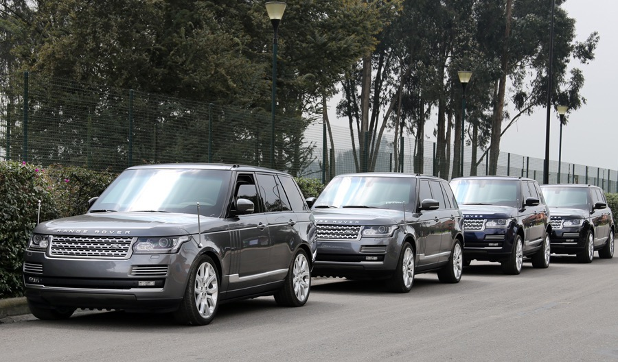 B5 Armored Range Rovers