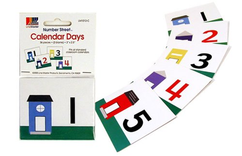 American Educational Card Calendar Days Number Line (36 Piece Set) - 2000 Units Brand New