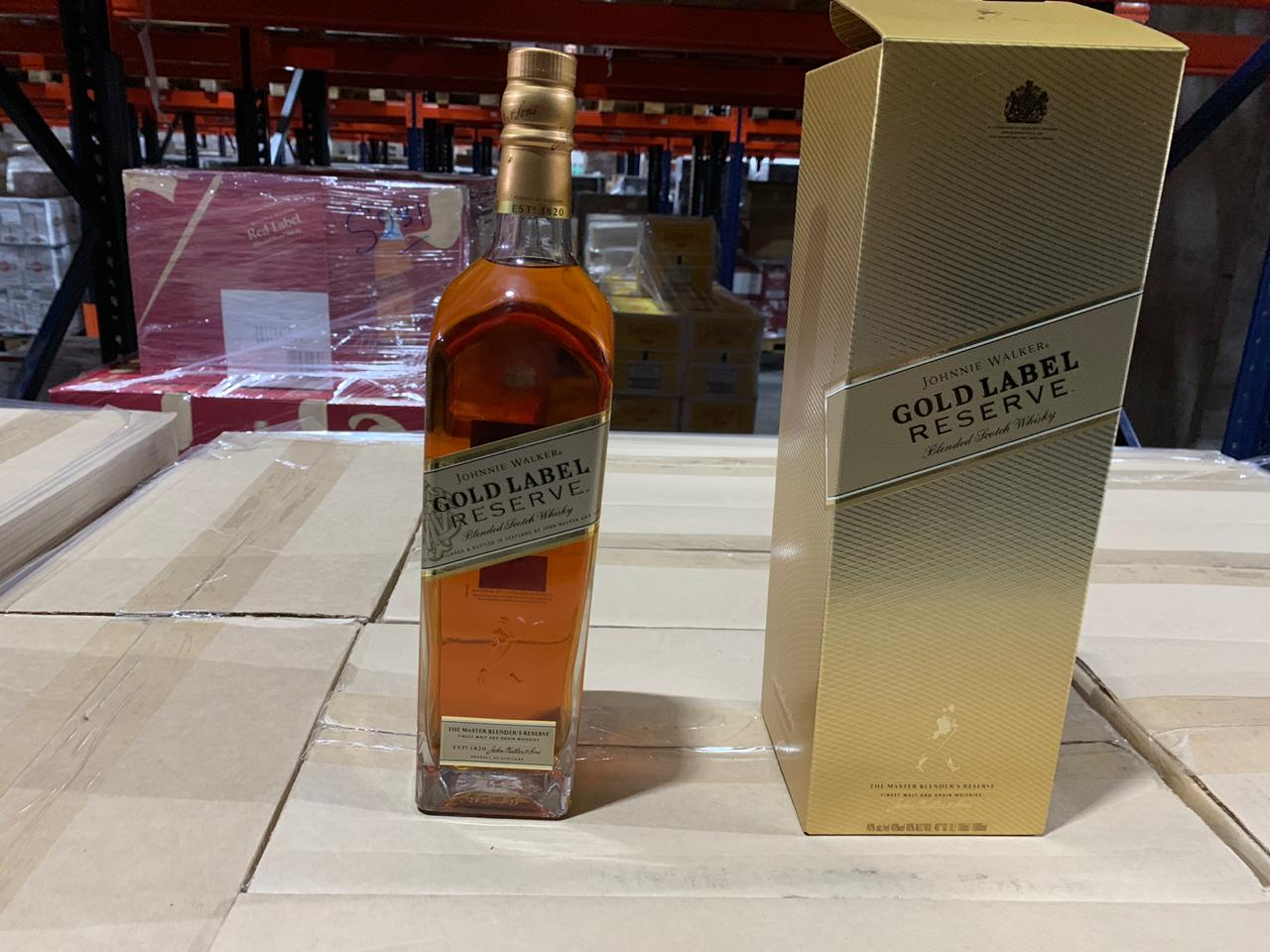 Offer JOHNNIE WALKER GOLD AND MARTELL CORDON BLEU