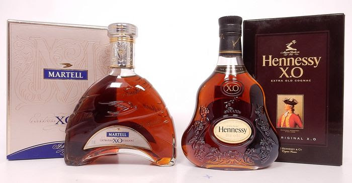 Offer martell and hennessy