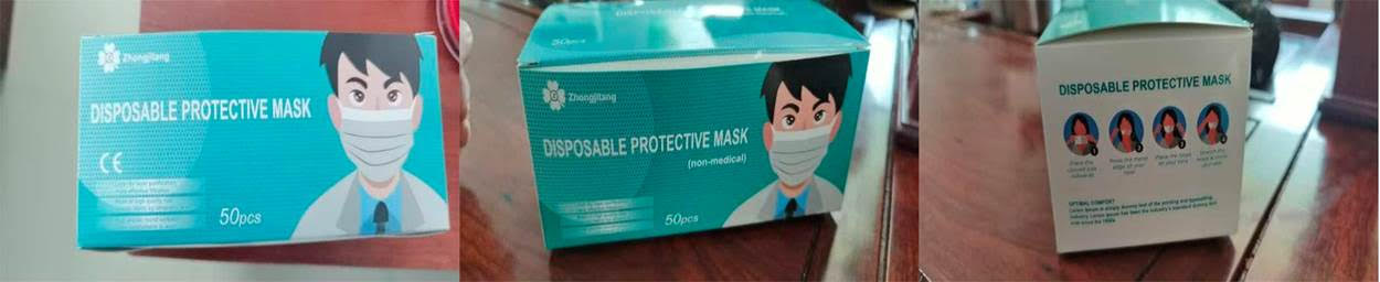 Very cheap non-medical surgical masks.