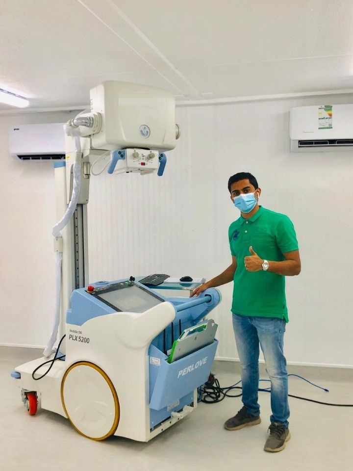 mobile digital x ray machine installed