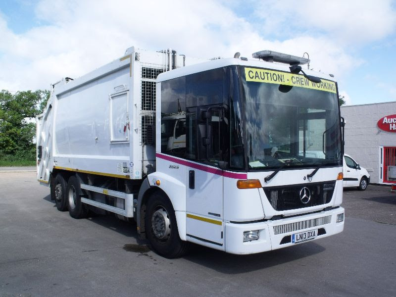 Disab, Road Rake, Fuel and water Bowser, Mercedes split body refuse truck