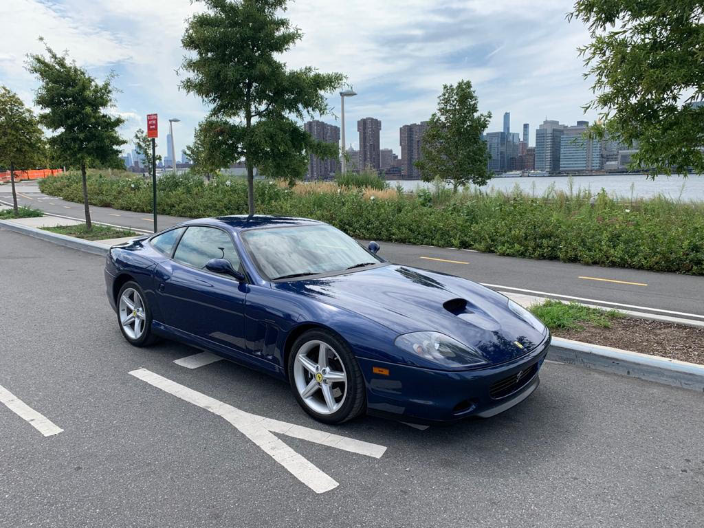 Extremely Rare and Stunning Tour de France Blue 2002 Ferrari 575M Maranello 6-Speed Manual with 21k Miles: One of Just 246 Produced