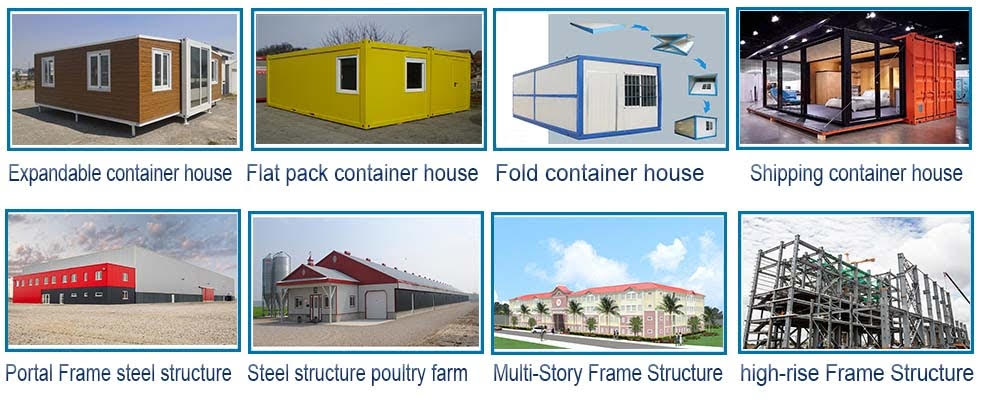 Prefab low cost modular house and container house for living and office
