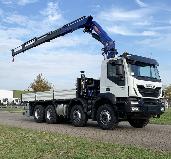 Weekly Update 21-12-2020 Iveco Trakker AD410T42H 8x4 Flatbed with Crane - NEW