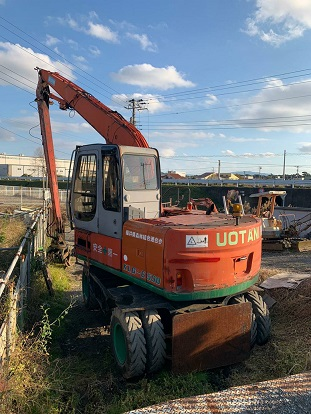 Uotani (Hitachi) Wheel Excavator Model KLG-6500 - SN 11P00V006030 - Year 2004 - Hours 19,668