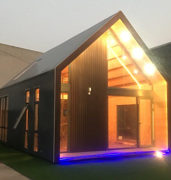 LIGHT STEEL FRAME HOUSE--  73M2 New light steel culture home