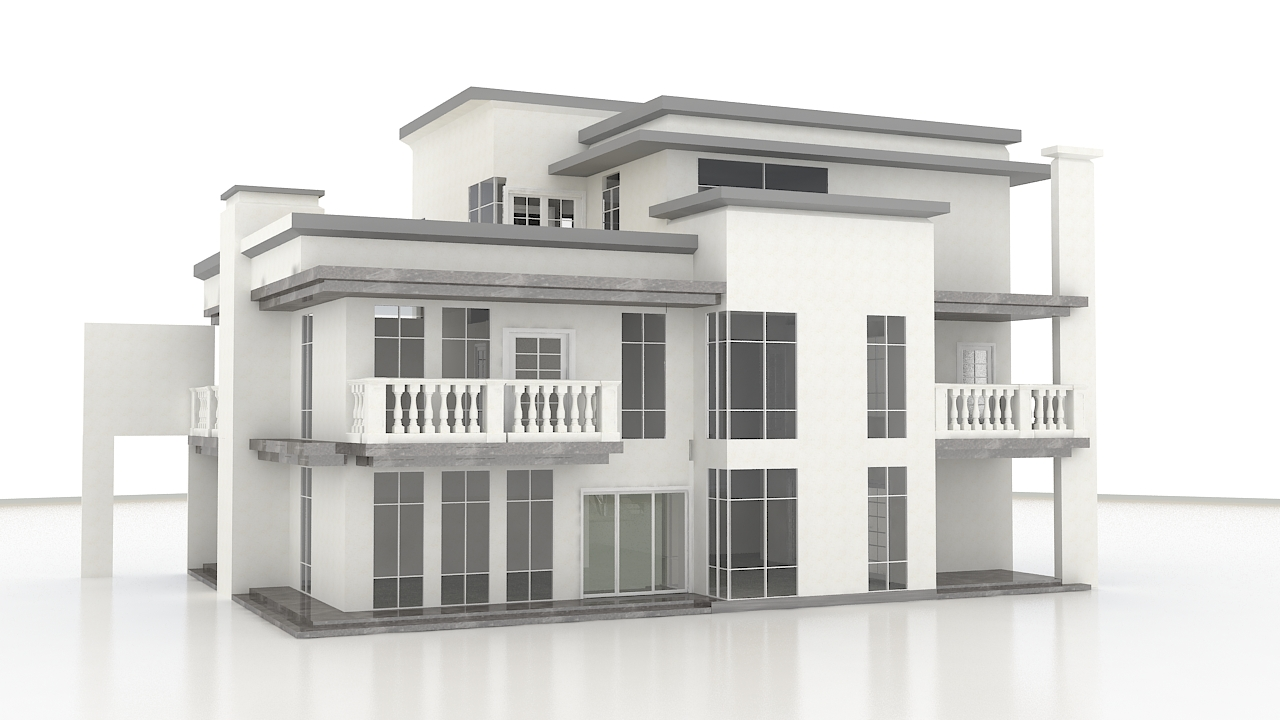 LIGHT STEEL FRAME HOUSE---420sqm light steel villa in Sierra Leone / Africa
