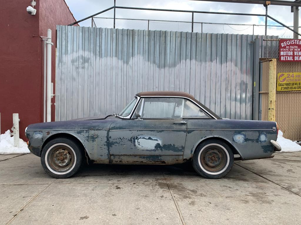 New Project Arrivals  1966 Sunbeam tiger   1948 MG YT Black