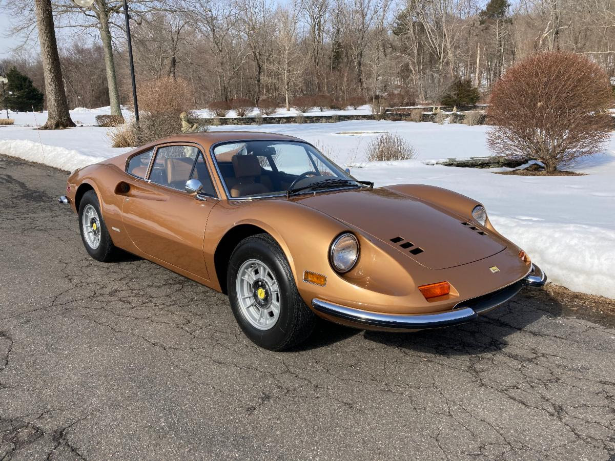 Stunningly Original 1972 Ferrari 246GT Dino: Extremely Low 18k Mile Example Offered with Ferrari Classiche, Books, and Tools