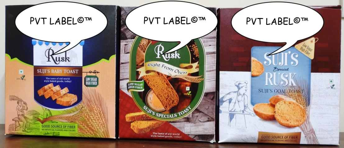 PRIVATE LABEL COOKIES, RUSK, SNACKS
